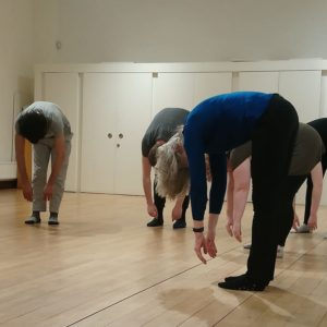 acting students in a movement class