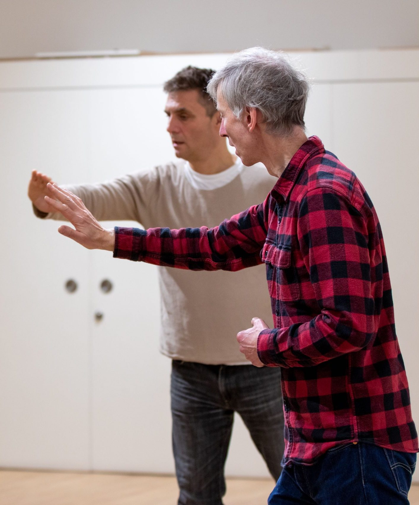 voice tutor working with an acting student